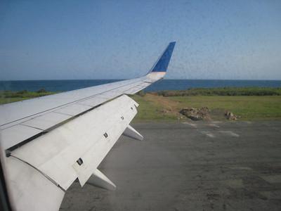 Landing at Roatan.