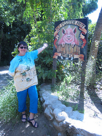 A 'must see' in the middle of the rain forest.  Home of the beer drinkin' pigs of St. Croix.