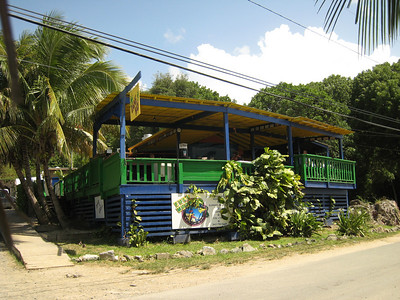 Cane Bay Restaurant - directly in front of the dive shop.
