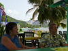 Lunch at Off The Wall just down the road from our villa.