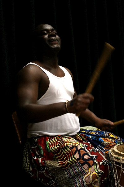 Cheikh Andji. Senegalese percussionist and member of the DJEMBEFOLA group.