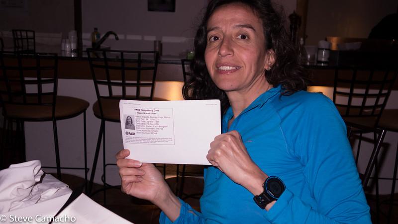 O/W Certified   Congrats Claudia