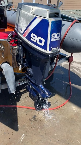 Pulling the old outboard