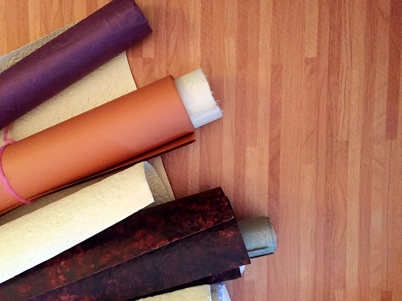 Stockpiled Mulberry, Unryu, Kozo, and Mango fiber and inclusions paper for crafting