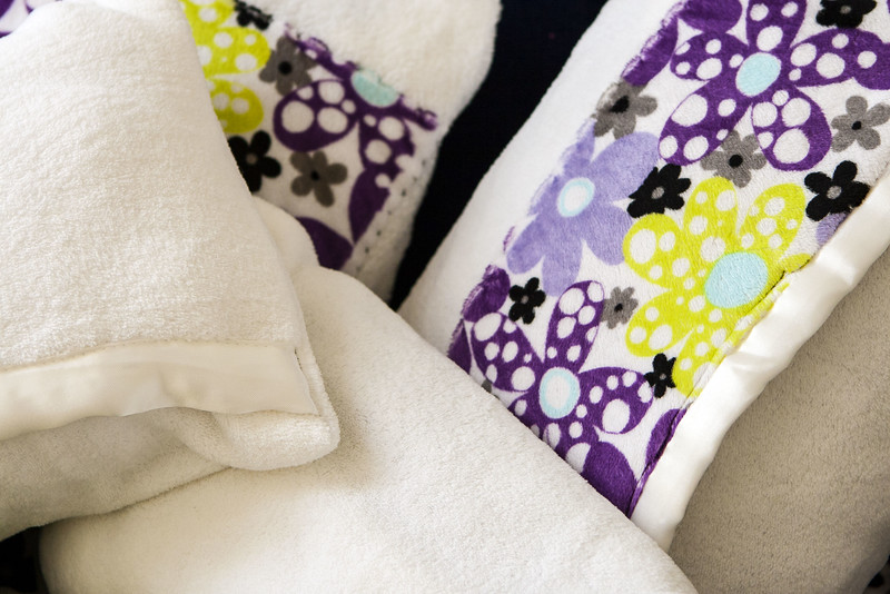 Detail of Pillowcases made from Baby Blankets
