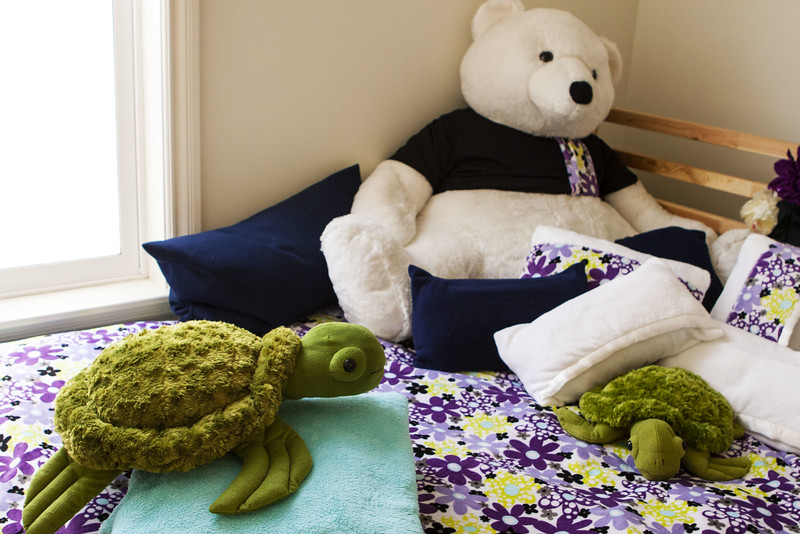 Coordinated Bedding for a Girl's Room