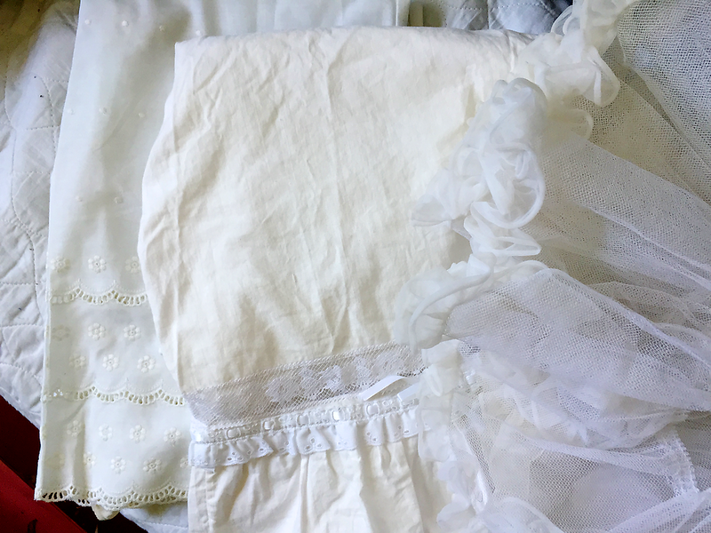 Vintage Petticoats and Pantaloons Saved for an Upcycling Sewing Project