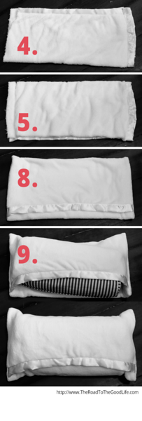 Nine Step Baby Blanket Pillowcase - Fold, Cut, Sew, and Fill with a Pillow