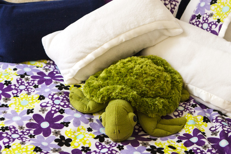 Pillowcases made from baby blankets for bolsters and camp pillows with coordinating duvet