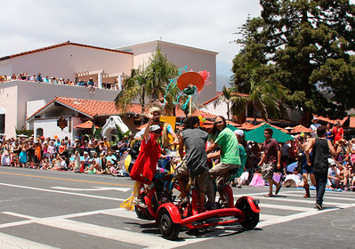 Spinning on the conference bike (Solstice Parade)