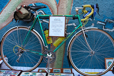 1971 Mercian: 100, 000 miles (owned by Wilson Hubbell)