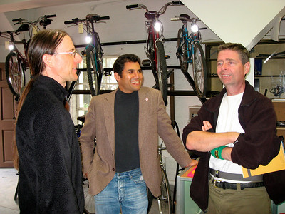 Dave Bourgeois, Das Williams (City Council), Nick Welsh (writer for the Independent) at the Grand Opening