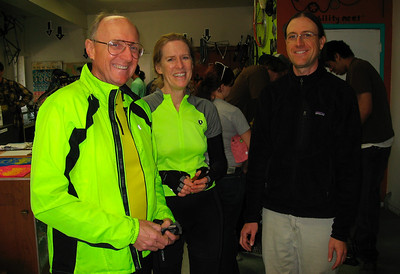 Fred Perner, Patsy Bolt & Dave Bourgeois (co-founder of Bici Centro)
