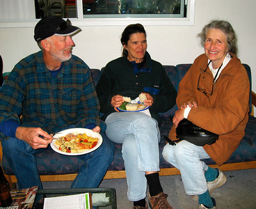 Mark Sapp,  Nancy Mulholland & Eva Inbar enjoying some food