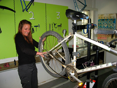 Happy to be fixing a bike that needs some work