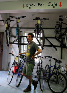Ed France in front of the new rack