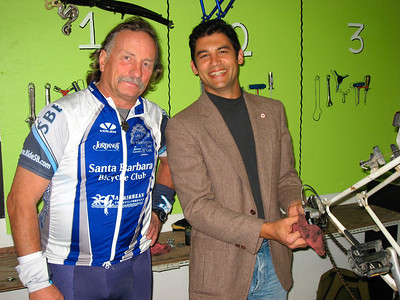 Drew Hunter (secretary for the bicycle coalition) & Das Williams