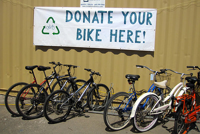 new container to store donated bikes