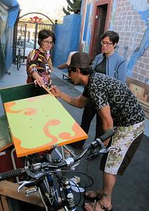 Part of our Spanish outreach crew: Robert, Carmen & Lynnette