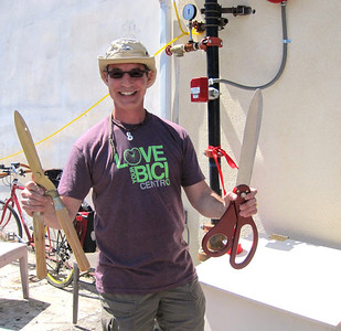 Matt brought the scissors for the ribbon cutting