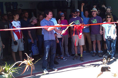 ribbon cutting (photo taken by Barry)
