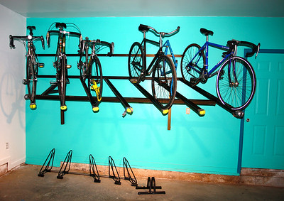 Rack with bikes for sale is up