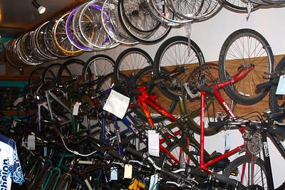 Racks are full of bikes