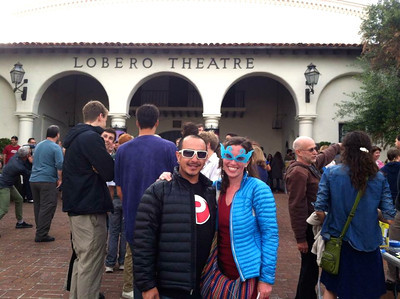 Robert & Holly at the Lobero Theater