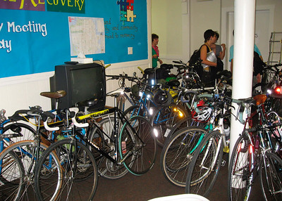 Friday, Sept 26: workshops & meals at the First Baptist Church. Bikes are everywhere