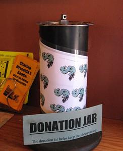 Heavy donation jar