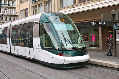 Very slick tram in Strasbourg http://en.wikipedia.org/wiki/Strasbourg_tramway