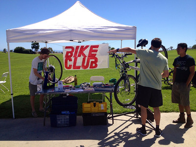 Truing a wheel & adjusting brakes are common bike repairs at SBCC