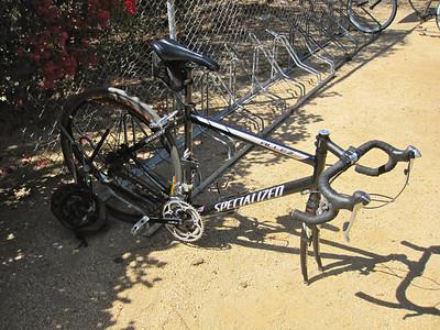 Nice bike on the new bike racks