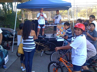 Pedal Power program from SBJH rode to the event.