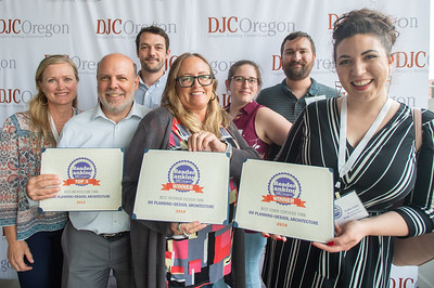 The Oh Planning + Design, Architecture team took home three awards at Wednesday's Reader Rankings event at the Jupiter Next hotel. (Josh Kulla/DJC)
