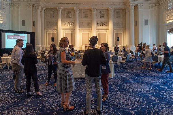 Attendees enjoy refreshments prior to hearing keynote speakers. (Josh Kulla/DJC)