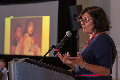 Keynote speaker Raahi Reddy speaks Thursday at the DJC's A Better Workplace event at the Sentinel Hotel. (Josh Kulla/DJC)
