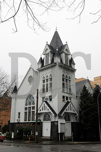 The Portland Korean Church, at the corner of SW 10th Street and Clay Street, is on the market for $849,000.  Sam Tenney / DJC