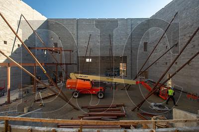 The school's auditorium will have a 550-person seating capacity. (Josh Kulla/DJC)