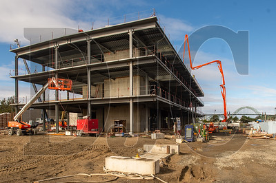 The Marine Studies Building at Oregon State University's Hatfield Marine Science Center in Newport is engineered to withstand a massive earthquake subsequent tsunami. (Josh Kulla/DJC)