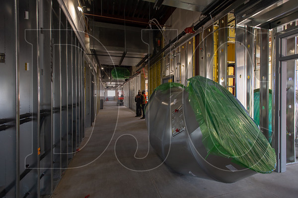 A large section of ductwork awaits installation. (Josh Kulla/DJC)