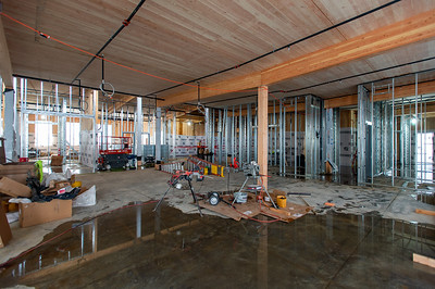 The FFA Architecture & Interiors-designed building is being constructed with mass timber elements sourced from British Columbia. (Josh Kulla/DJC)