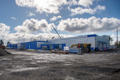 The 34,000-square-foot building is being erected on a former elementary school site. (Josh Kulla/DJC)