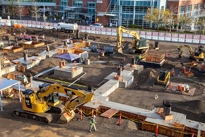 A hospital expansion in Salem is among the large Oregon construction projects continuing through the coronavirus pandemic.