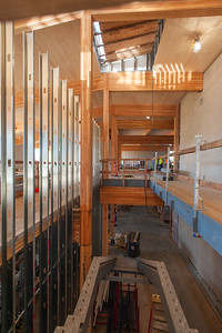 The two-story, 51,500-square-foot building was designed by Opsis Architecture. (Josh Kulla/DJC)