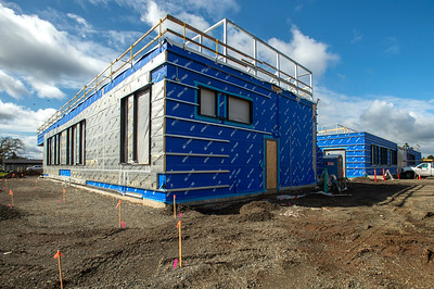 A new Oregon City public safety facility is due for completion this summer. (Josh Kulla/DJC)