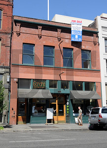 The 8,150-square-foot Michael G. Building, located at 827 S.W. Second Ave in downtown Portland, is for sale for $1.1 million.  Built in 1892 in the Italianate architecture style, the building features two floors and a mezzanine, and currently houses a variety of multicultural food vendors.