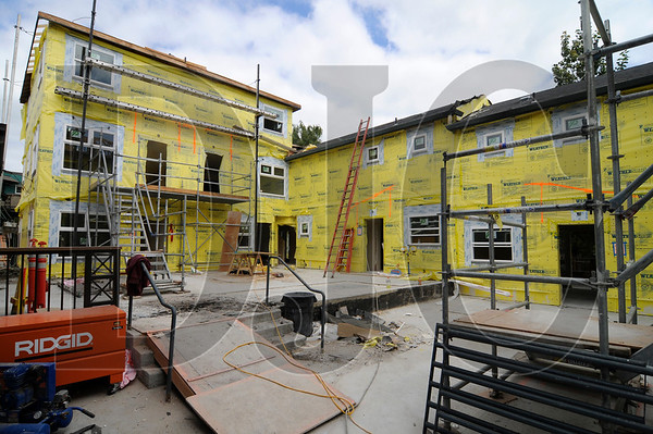 A cluster of apartment buildings at the McCoy Village complex in Northeast Portland is being renovated by LMC Construction.