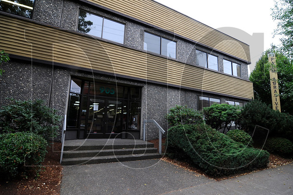A 13,621-square-foot building in Southeast Portland, which was built in 1978 for Palm Abrasive Co., is for sale at an asking price of $2.1 million.  The two-story, flex structure features large, glued laminated beams, and a layered rock and paneling exterior.