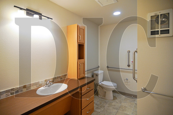 The building's assisted living units are Americans with Disabilities Act accessible, and all of the units are adaptable to ADA standards.